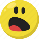 emoji, emoticon, feelings, shock, shocked, smileys, surprised icon