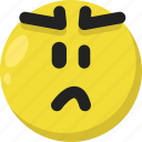 angry, emoji, emoticon, feelings, furious, mad, smileys icon