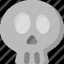 dead, death, emoji, emoticon, feelings, skull, smileys