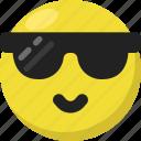 cool, emoji, emoticon, feelings, happy, smileys, sunglasses