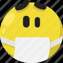emoji, emoticon, feelings, sick, smileys, vomit, worried icon