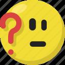 confused, emoji, emoticon, feelings, perplexed, smileys, uncertain