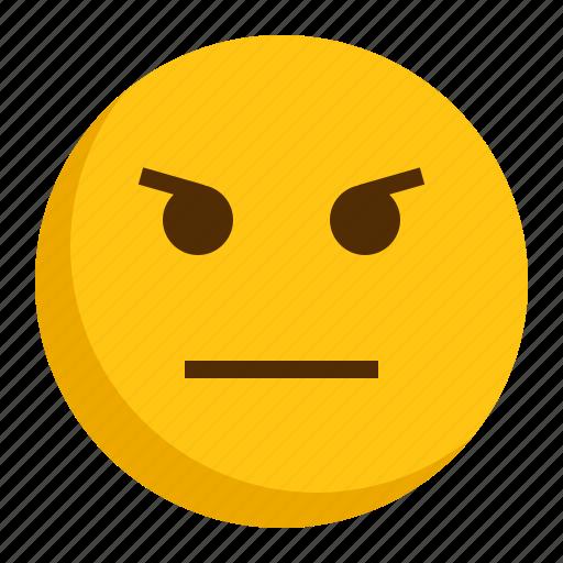angry, emoji, emoticon, mad icon