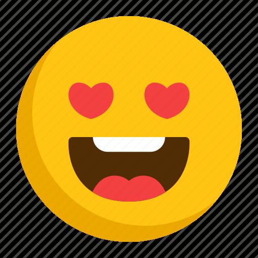 emoji, emoticon, love icon