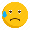 awkward, drop, emoji, emoticon icon
