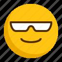 emoji, emoticon, expression, glasses, happy