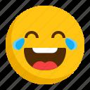 emoji, emoticon, happy, laugh, smiley