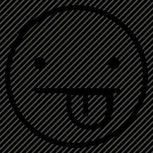 emoji, emoticon, joke, tongue icon