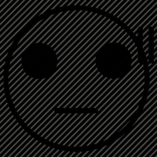 emoji, emoticon, scared icon