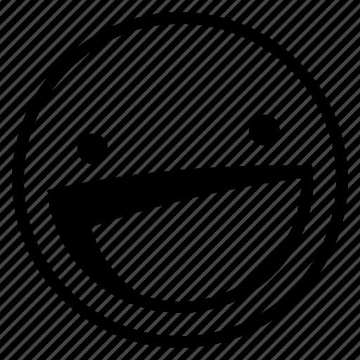 emoji, emoticon, happy, laughing, smile icon