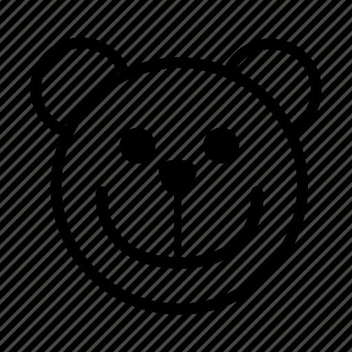 bear, emoji, gomti, laugh, line, simile, smiley icon