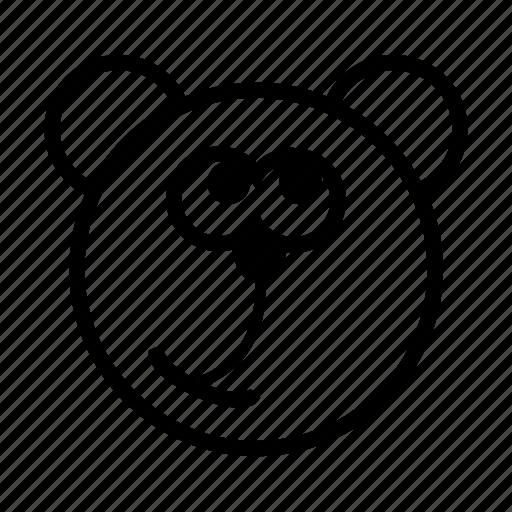 bear, emoji, gomti, irrelevant, it wasn't me, line icon