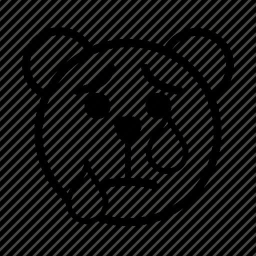 bear, crying, emoji, gomti, line, sad, tear icon