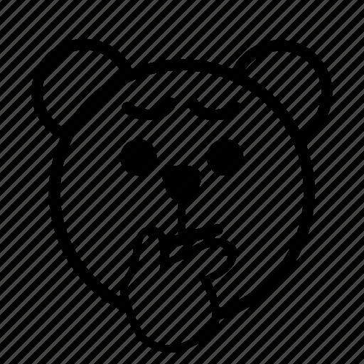 considering, emoji, gomti, line, thinking icon