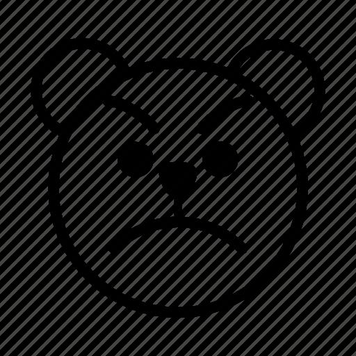 angry, bear, emoji, gomti, mad, temper, upset icon
