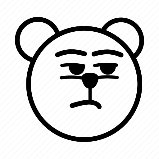 emoji, gomti, indifference, suspicious, unconcern icon