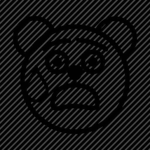embarrassed, emoji, gomti, line, shocked, surprised icon