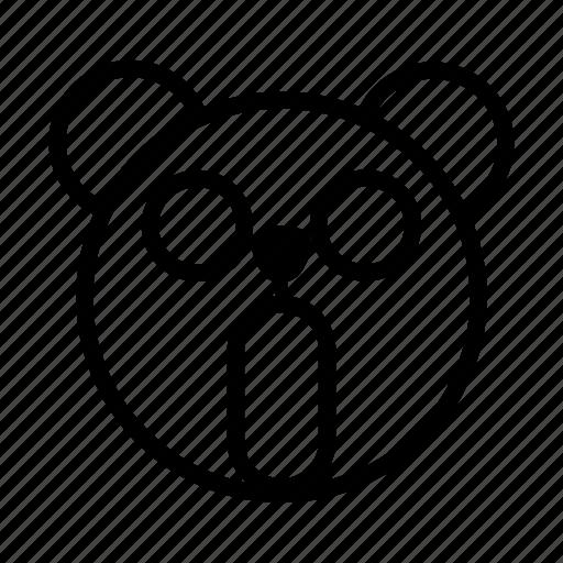 bear, emoji, gomti, line, panic, surprised icon
