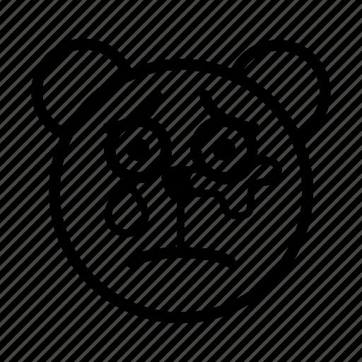 bear, cry, emoji, gomti, sad, sad and cry, tear icon
