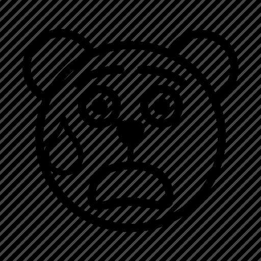 bear, embarrassed, emoji, gomti, shocked, surprised icon
