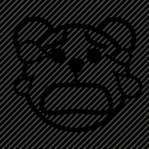 bear, crying, crying loudly, emoji, gomti, tear icon