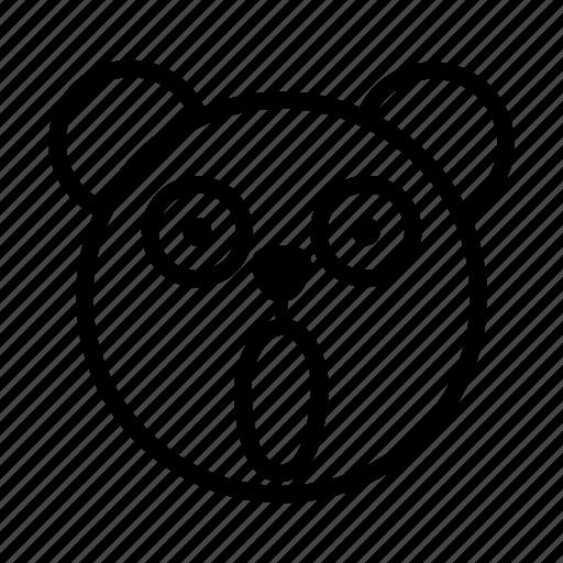 bear, emoji, gomti, overwhelm, shocked, surprised, wow icon