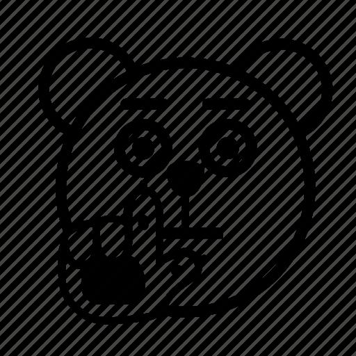 bear, emoji, gomti, stop, wait icon