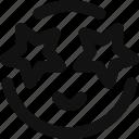 emoji, emoticon, excited, feelings, happy, smileys, star icon