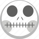 anatomy, death, emoji, emotion, facebook, skelleton icon