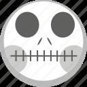 anatomy, death, emoji, emotion, skelleton