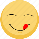 emoji, facebook, food, good food, good taste, yum icon
