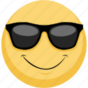 cool, emoji, emotion, facebook, sunglasses, wow icon
