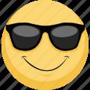 cool, emoji, emotion, sunglasses, wow icon