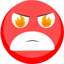 angry, emoji, emotion, facebook, smile icon