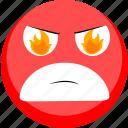 angry, emoji, emotion, smile