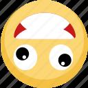 crazy, emoji, no brain, wacky