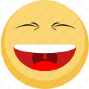 emoji, facebook, hapiness, happy, laugh, laughing icon