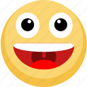 emoji, emotion, facebook, lol, smile icon