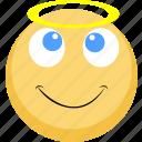 angel, emoji, facebook, good, nice, pure soul icon