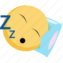 emoji, emotion, facebook, rest, sleep, tired icon