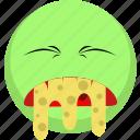 emoji, emotion, facebook, green, illnes, sick, vomit icon