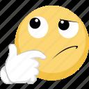 emoji, idea, smart, think