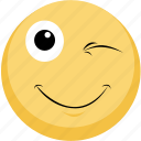 blink, emoji, emotion, facebook, smile icon