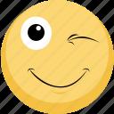 blink, emoji, emotion, smile
