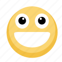 emoji, emotion, facebook, smile icon
