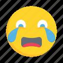 face, emoji, emoticon, crying, sad