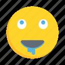 face, emoji, emoticon, drooling, smiley