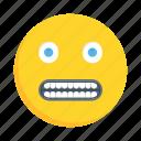 face, emoji, emoticon, grimacing, smiley
