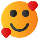 chat, emoji, emoticon, emotion, expression, face, love icon