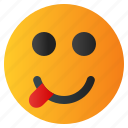 chat, emoji, emoticon, emotion, expression, face, happy icon